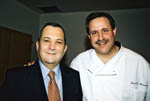 Ehud Barak and Caterer Steve Herman
