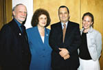 Ehud Barak with John, Civia & Taal Mclean