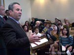 Ehud Barak meets with Carmel Academy 6th Grade Students